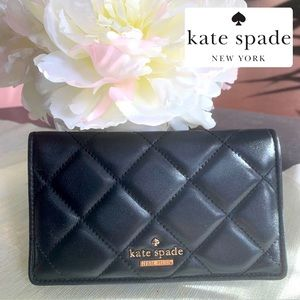 ♠️ KATE SPADE BIFOLD BLACK QUILTED LEATHER WALLET